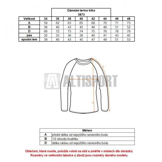 Dámské termo triko s dl.rukávem NORDBLANC AMIRA NBBLD3873 BÍLÁ