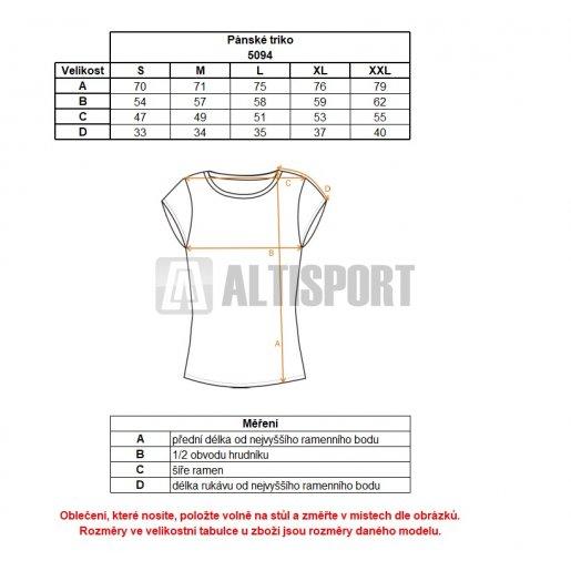 Pánské tričko NORDBLANC HYENA NBSMT5094 SVĚTLÝ MELÍR