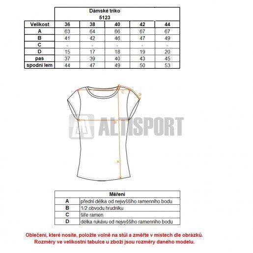 Dámské tričko NORDBLANC PALM NBSLT5123 SVĚTLE ŠEDÁ