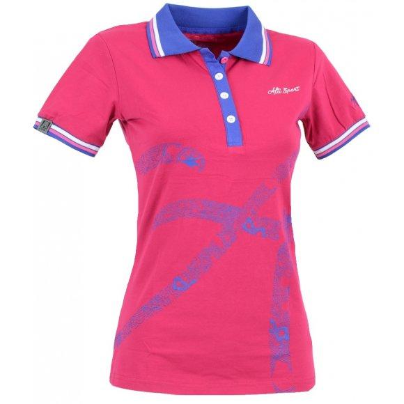 Dámské triko s límečkem ALTISPORT ARMANA ALLS16032 TMAVĚ MODRÁ