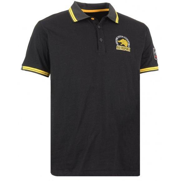 Chlapecké triko s límečkem ALTISPORT ARMAN-J ALJS16031 ČERNÁ