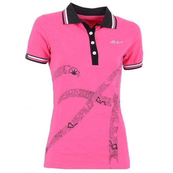 Dámské triko s límečkem ALTISPORT ARMANA ALLS16032 RŮŽOVÁ