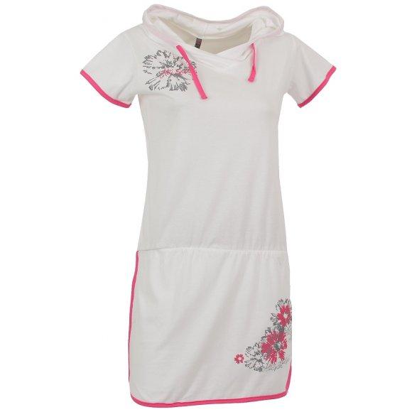 Dámské šaty ALTISPORT BARISA ALLS16030 BÍLÁ