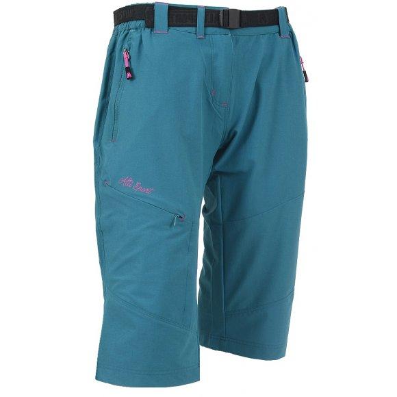 Dámské 3/4 outdoorové kalhoty ALTISPORT HAZERIA ALLS16012 MODRORŮŽOVÁ