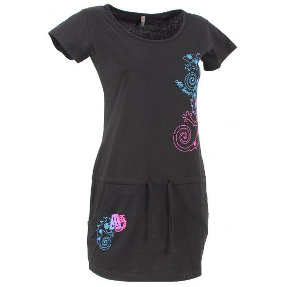 Dětské šaty ALTISPORT PARMA-J ALJS16087 ČERNÁ