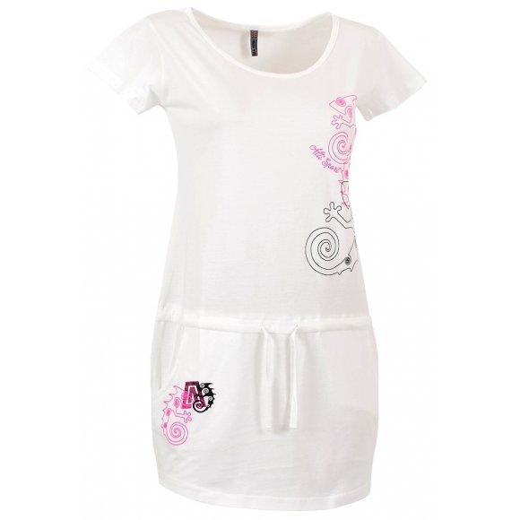 Dámské šaty ALTISPORT PARMA ALLS16087 BÍLÁ