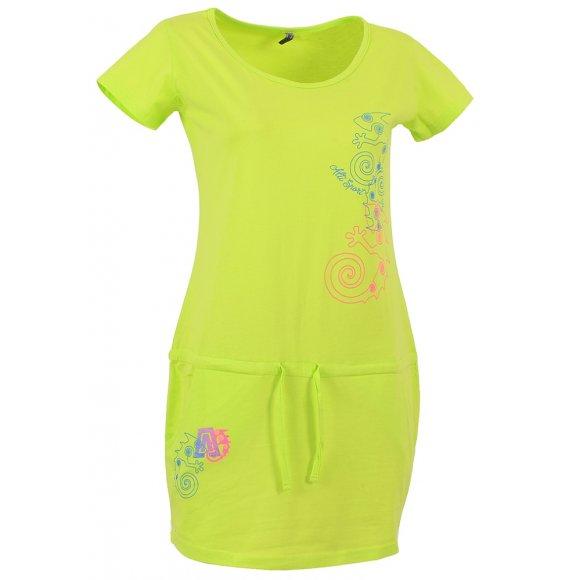 Dámské šaty ALTISPORT PARMA ALLS16087 SVĚTLE ZELENÁ
