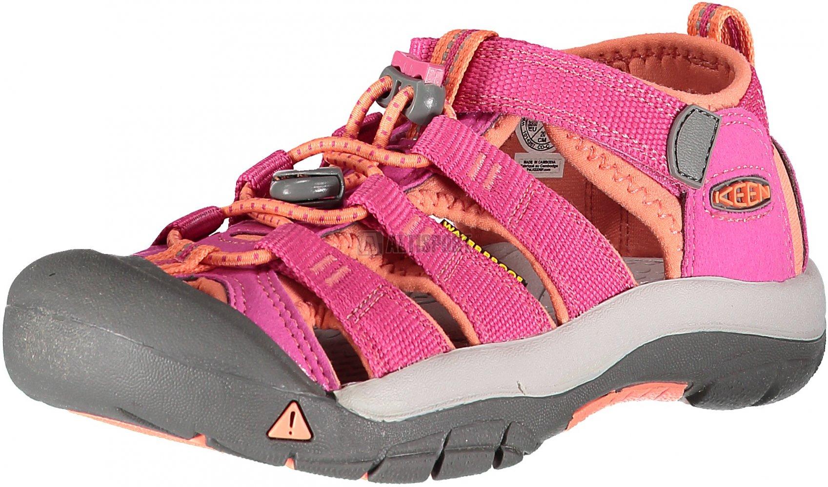f3be688142a Dětské sandále KEEN NEWPORT H2 JR VERY BERRY FUSION CORAL velikost ...