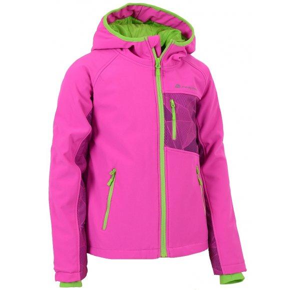Dětská bunda softshell ALPINE PRO TAKHO INS. RŮŽOVÁ