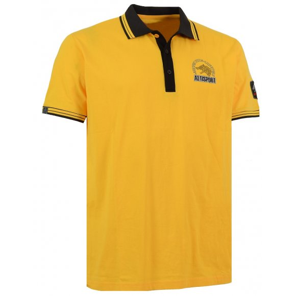 Chlapecké triko s límečkem ALTISPORT ARMAN-J ALJS16031 ŽLUTÁ