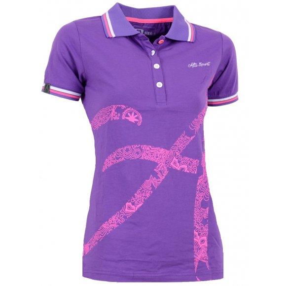 Dámské triko s límečkem ALTISPORT ARMANA ALLS16032 FIALOVÁ