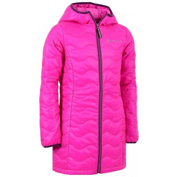 Dětský zimní kabát ALPINE PRO ADRIANNO RŮŽOVÁ