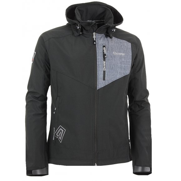 Chlapecká softshellová bunda ALTISPORT BYTE-J ALJS16005 ČERNOŠEDÁ