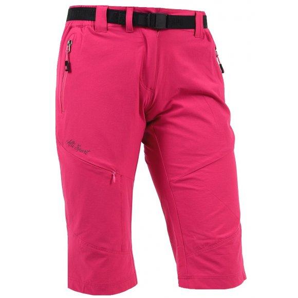 Dámské 3/4 outdoorové kalhoty ALTISPORT HAZERIA ALLS16012 RŮŽOVÁ