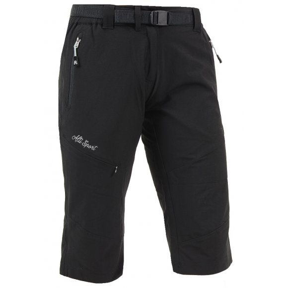 Dámské 3/4 outdoorové kalhoty ALTISPORT HAZERIA ALLS16012 ČERNÁ