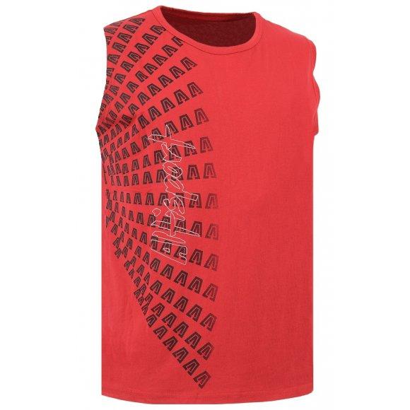 Pánské triko bez rukávu ALTISPORT JUNIPER ALMS16021 ČERVENÁ