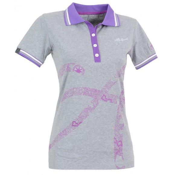 Dámské triko s límečkem ALTISPORT ARMANA ALLS16032 MELÍR