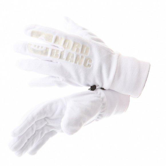 Dámské fleecové rukavice NORDBLANC NECESSARY NBWG5979 BÍLÁ