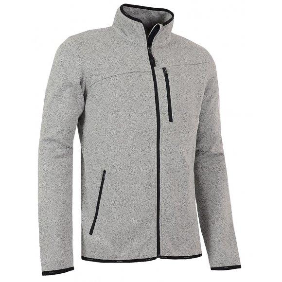 Pánský sportovní svetr LOAP GYLLY OLM1627 ŠEDÝ MELÍR