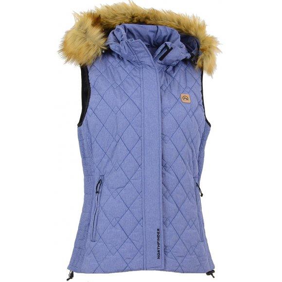 Dámská zimní vesta NORTHFINDER HERRIET VE-4146-1SP MODRÁ