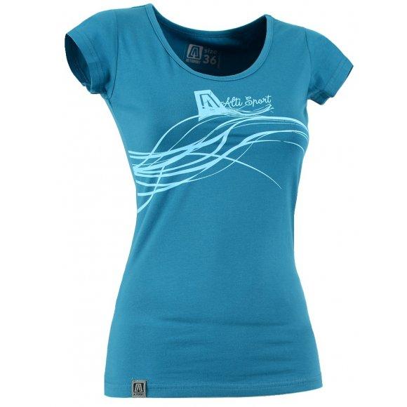 Dívčí triko s krátkým rukávem ALTISPORT ADANA-J  TYRKYSOVÁ