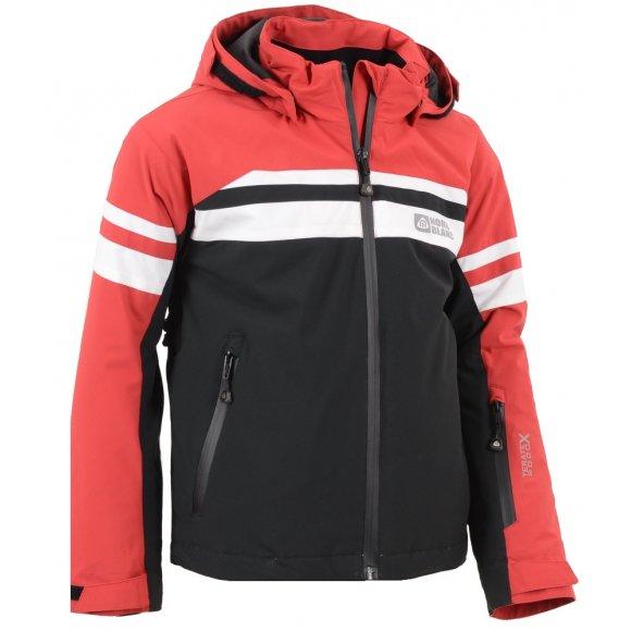 Dětská zimní bunda NORDBLANC YEARN NBWJK5906S TMAVĚ ČERVENÁ