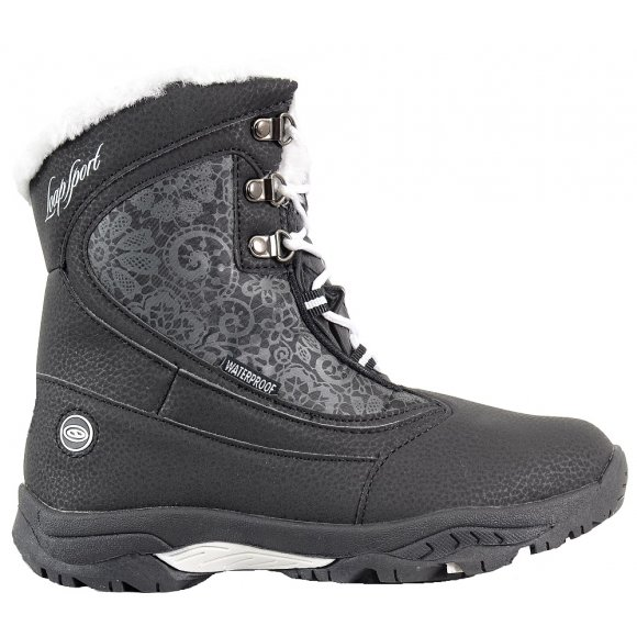 Dětské zimní boty LOAP SPIRIT KBJ1652 ČERNOBÍLÁ