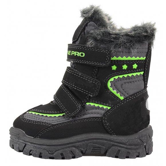 Dětská zimní obuv ALPINE PRO FLEA ŠEDÁ