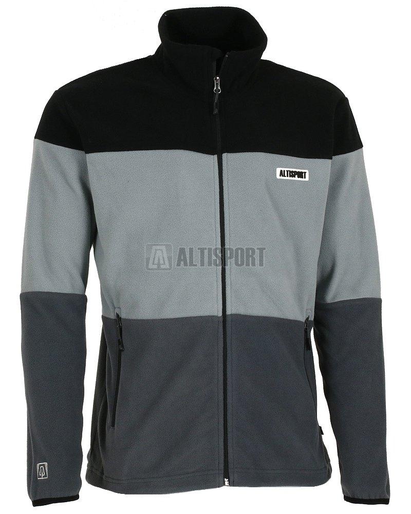 Pánská fleece mikina ALTISPORT BURLE ALMW16049 ŠEDÁ velikost  S ... 14253b95e0
