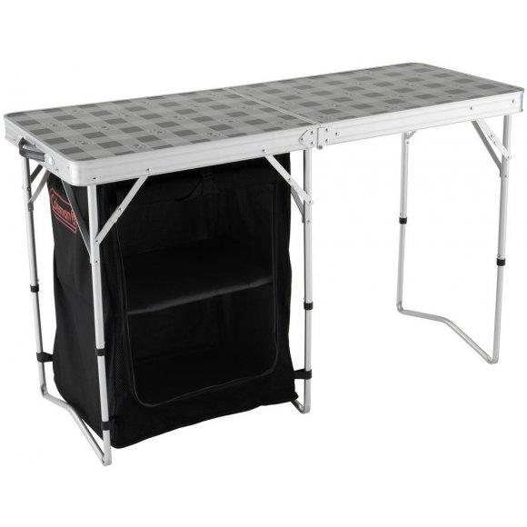 Kempingový skládací stůl Coleman 2 v 1 Table & Storage stříbrná