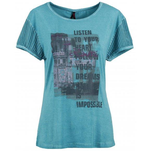 Dámské triko s krátkým rukávem KIXMI BARBIE SVĚTLE MODRÁ