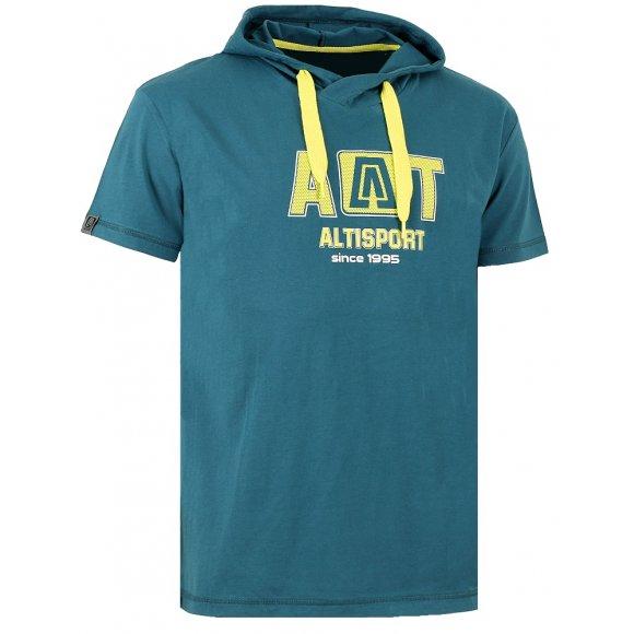 Dětské triko s krátkým rukávem ALTISPORT KASTRI-J ALJW16070 TYRKYSOVÁ