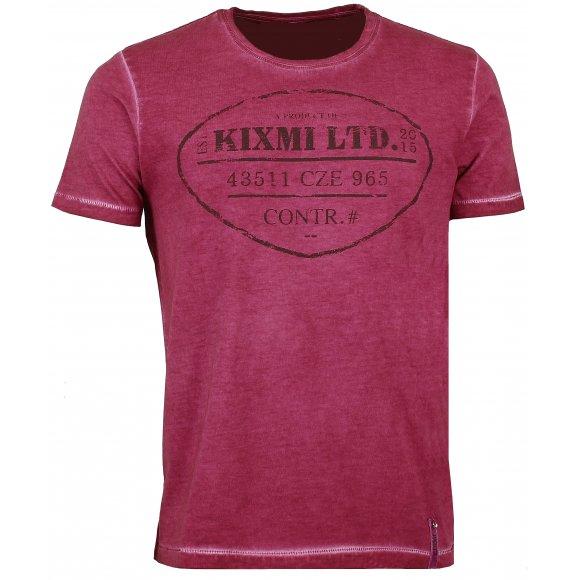 Pánské triko s krátkým rukávem KIXMI BENTON AAMTW16150 VÍNOVÁ