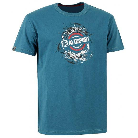 Dětské triko s krátkým rukávem ALTISPORT KATO-J ALJW16065 TYRKYSOVÁ