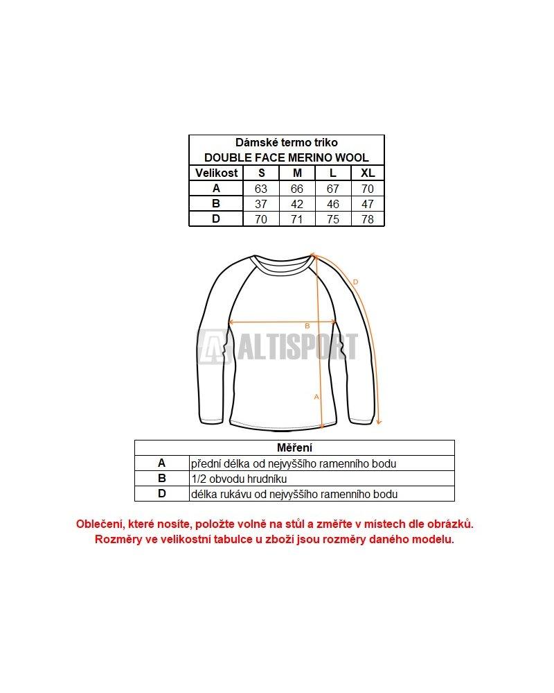 Dámské termoprádlo Sensor Double Face Merino Wool rolák zip černá ... b584318570