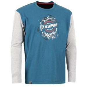 Pánské triko s dlouhým rukávem ALTISPORT PETRIO ALMW16087 ZELENÁ ... 3b18354627