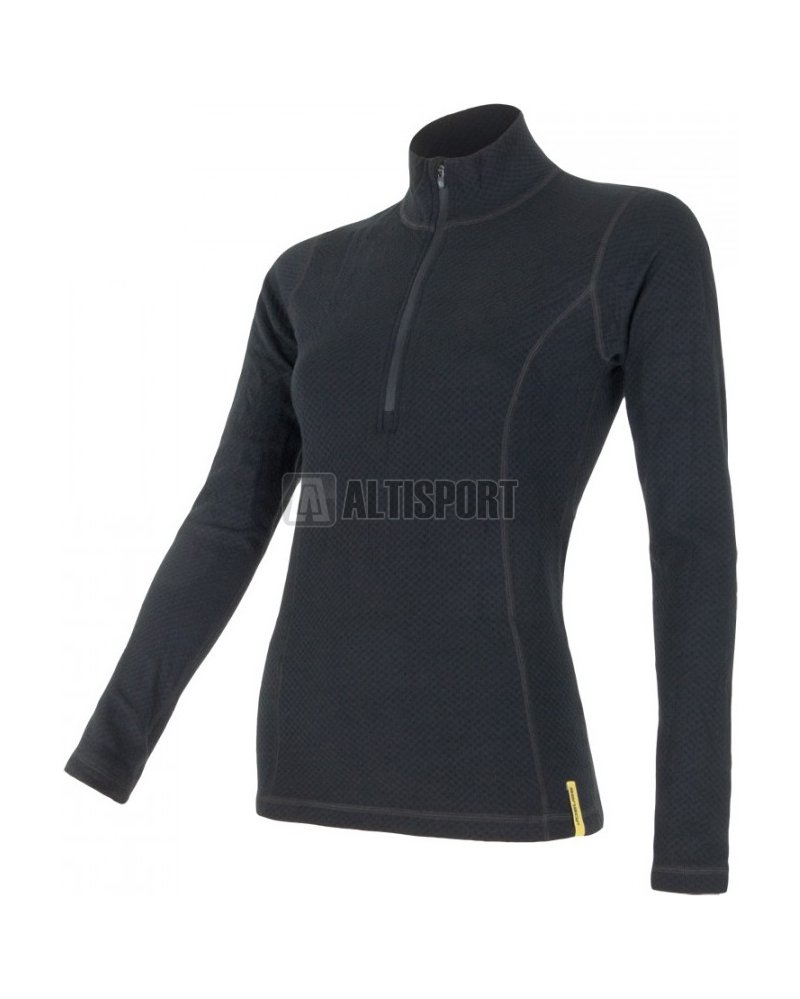 Dámské termoprádlo Sensor Double Face Merino Wool rolák zip černá ... 0a2305e055