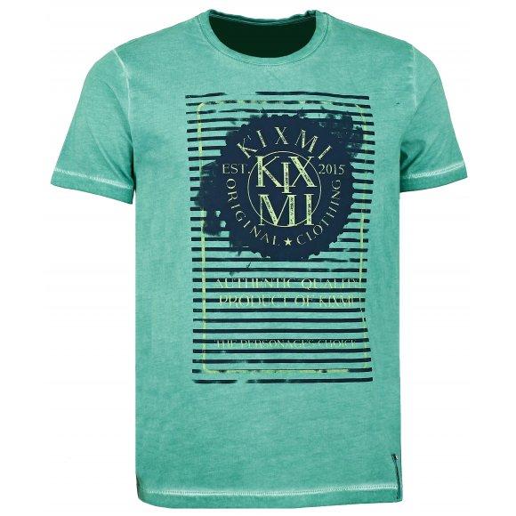 Pánské triko s krátkým rukávem KIXMI BILL AAMTW16152 SVĚTLE ZELENÁ