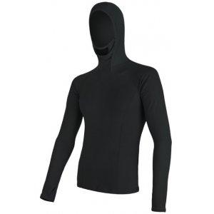 Pánské termoprádlo Sensor Double Face Merino Wool dl.rukáv s kapucí černá
