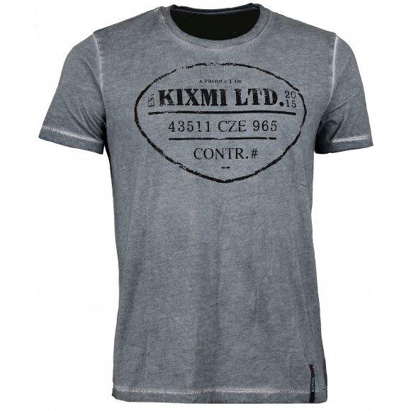 Pánské triko  KIXMI BENTON AAMTW16150 TMAVĚ ŠEDÁ
