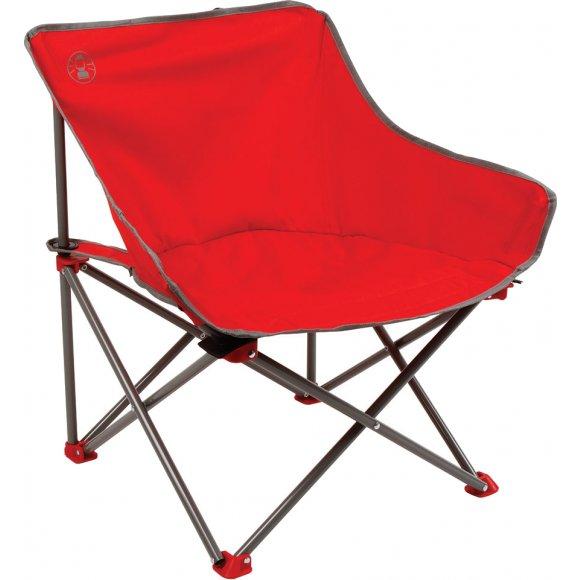 Kempingové skládací křesílko Coleman Kickback Chair červená