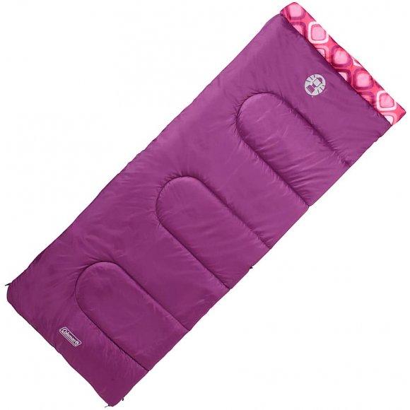 Dětský dekový spací pytel Coleman Salida Rectangular -10°C fialová