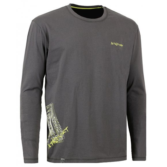 Dětské triko s dlouhým rukávem ALTISPORT KARAMAN-J ALJW16083 TMAVĚ ŠEDÁ