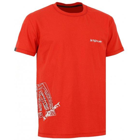 Dětské triko s krátkým rukávem ALTISPORT TIMIOS-J ALJW16066 TMAVĚ ČERVENÁ