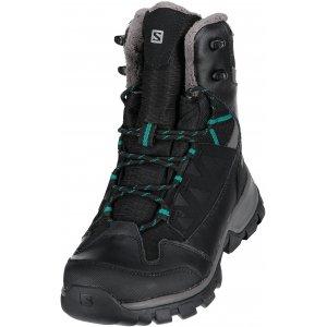 e12d2224732 Dámské zimní boty Salomon Chalten TS CSWP W L39173200 Black autobahn veridian  green