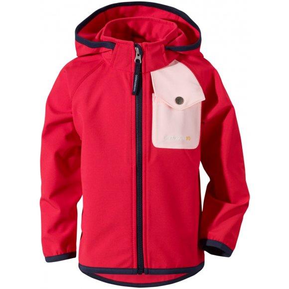 Dětská softshellová bunda Didrikdons1913 Otego červená
