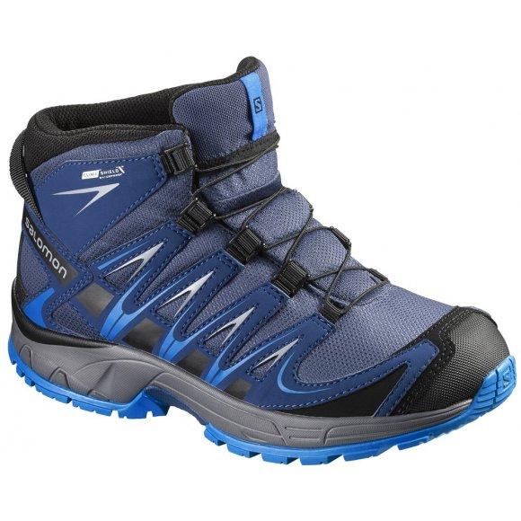 Dětské trekové boty Salomon XA Pro 3D Mid CSWP K Slate blue/blue dept