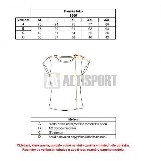 Pánské tričko NORDBLANC WING NBSMT6205 AMAZONSKÁ  ZELENÁ