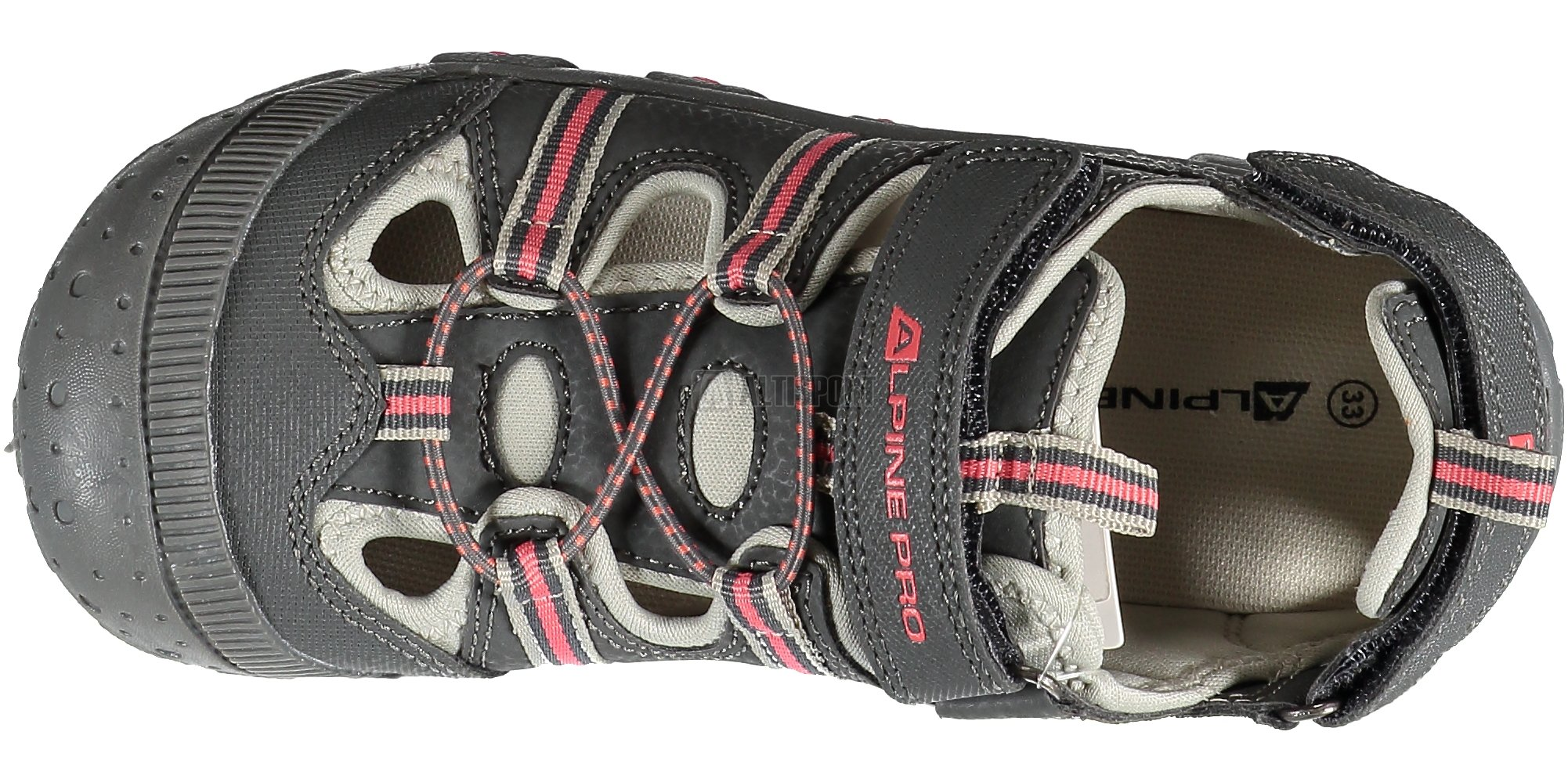 56a99a01fc30 Dětské sandále ALPINE PRO BEDELI KBTJ148 ŠEDÁ velikost  28 ...