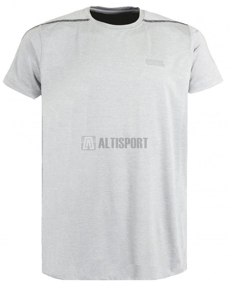 Pánské běžecké tričko NORDBLANC REFLECTION NBSMF6167 SVĚTLE ŠEDÝ MELÍR cd4d44e741